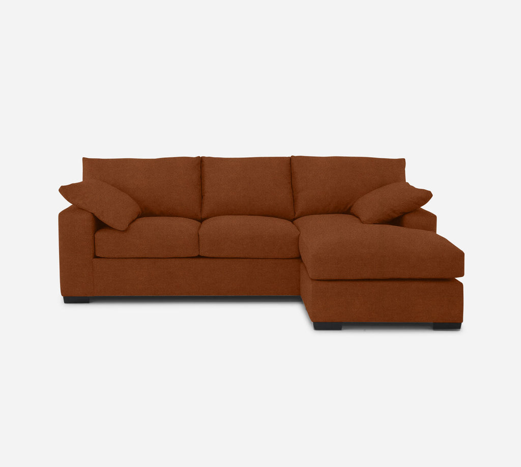 Kyle Sofa with Chaise- RHF - Passion Suede - Rust