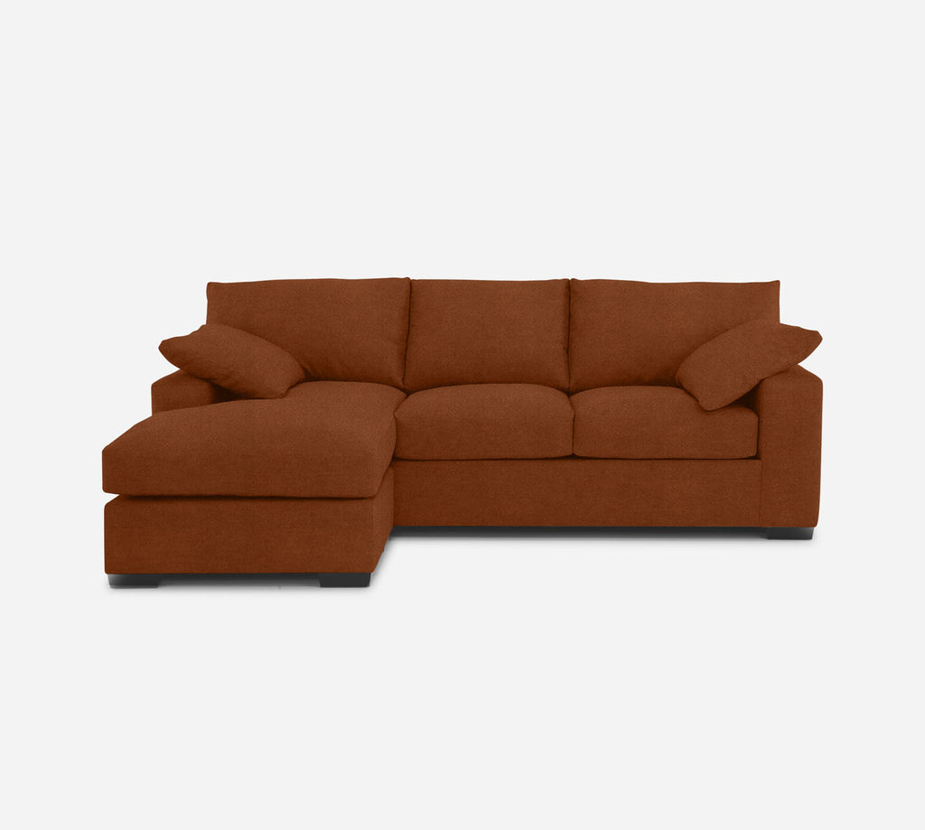 Kyle Sofa with Chaise- LHF - Passion Suede - Rust