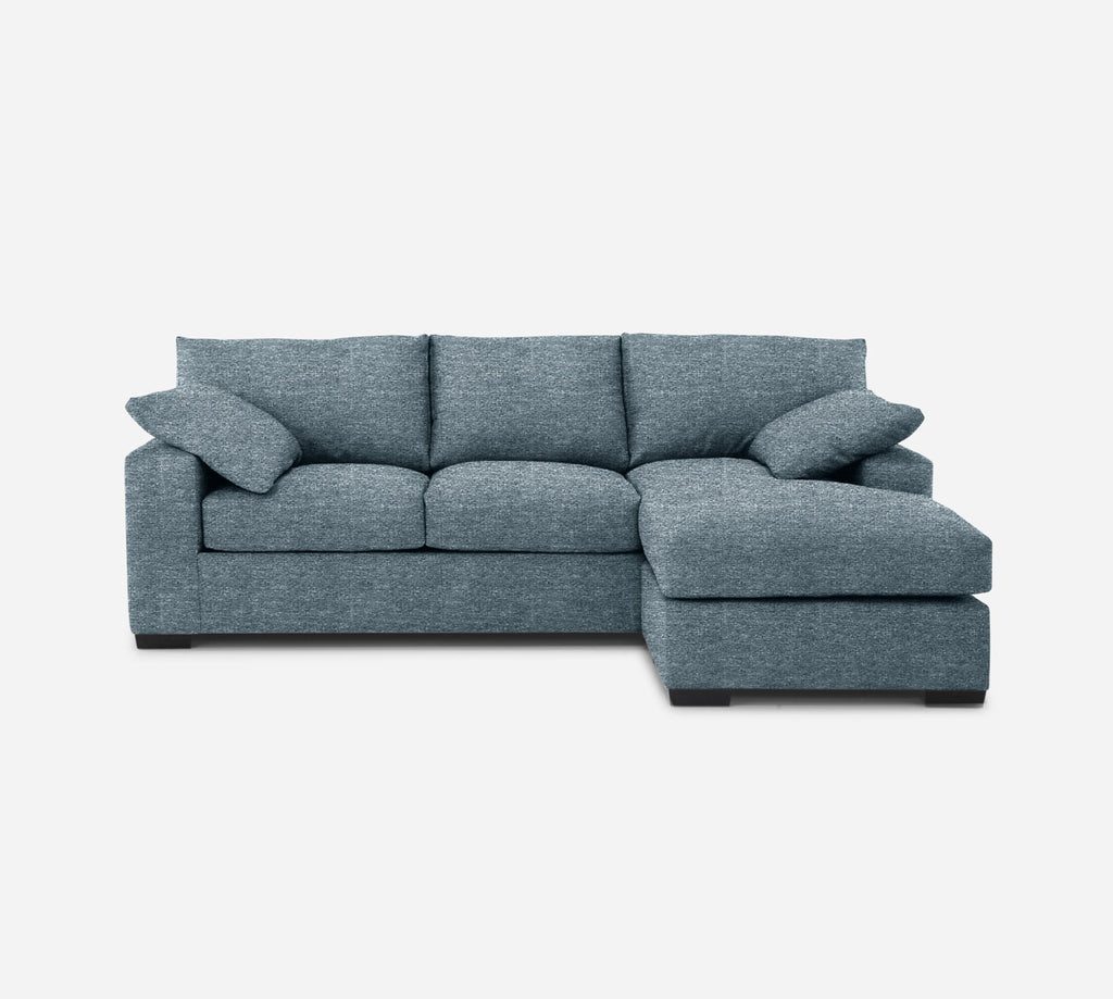 Kyle Sofa with Chaise- RHF - Stardust - Lapis