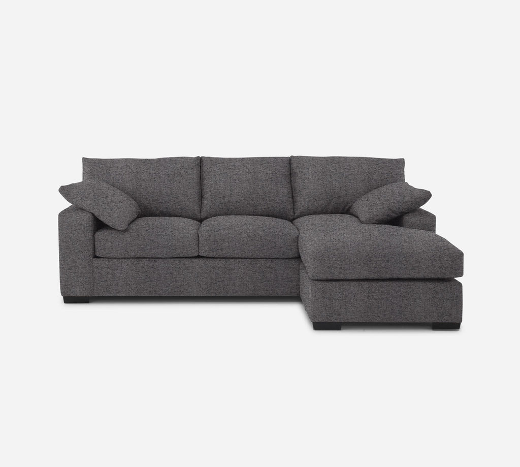 Kyle Sofa with Chaise- RHF - Theron - Concrete