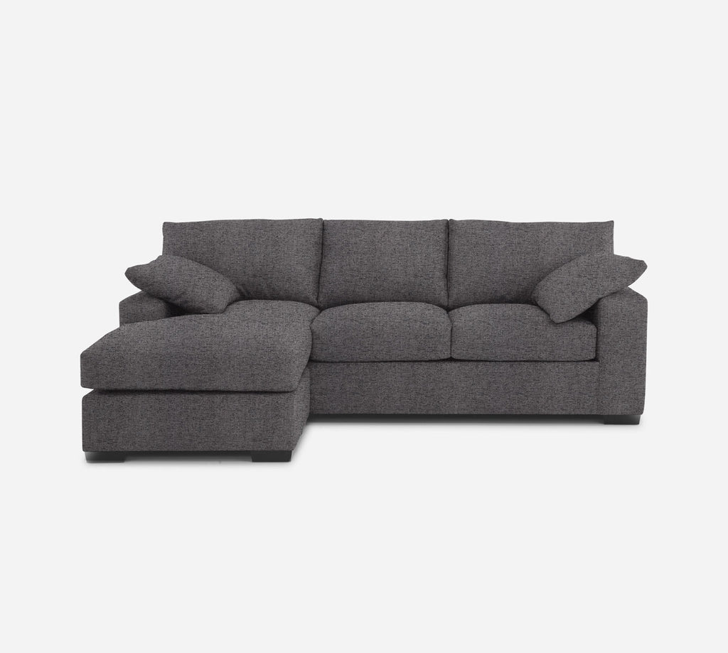 Kyle Sofa with Chaise- LHF - Theron - Concrete