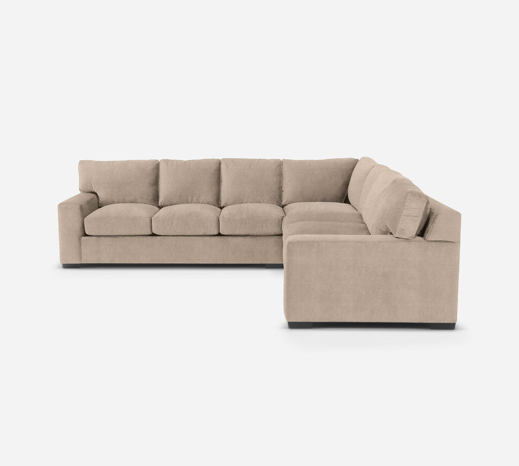 Kyle Large Corner Sectional - Passion Suede - Camel
