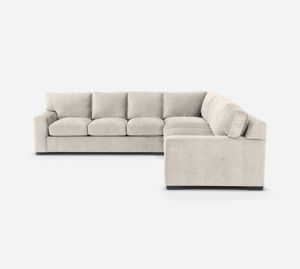 Kyle Large Corner Sectional - Passion Suede - Oyster