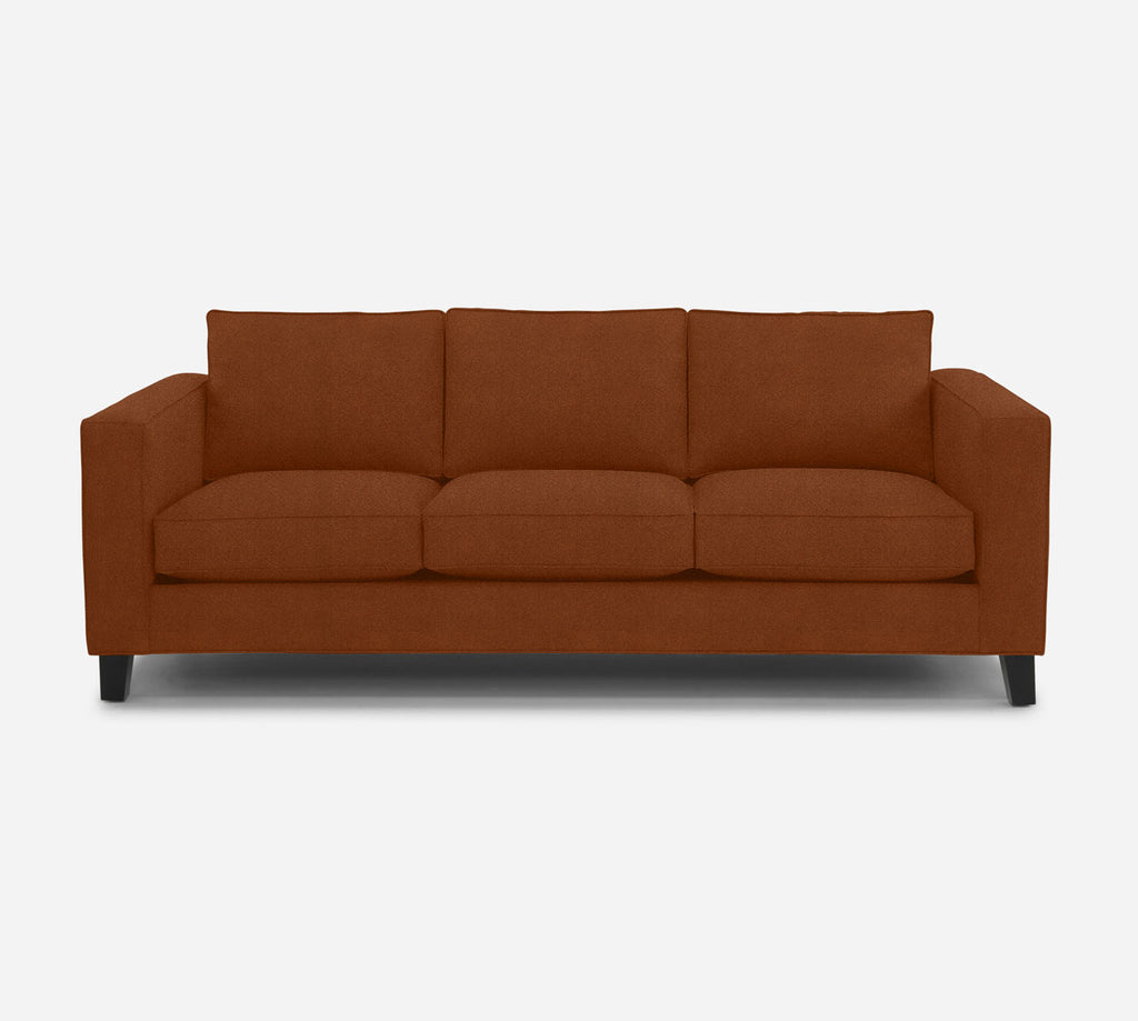 Remy 3 Seat Sofa - Passion Suede - Rust
