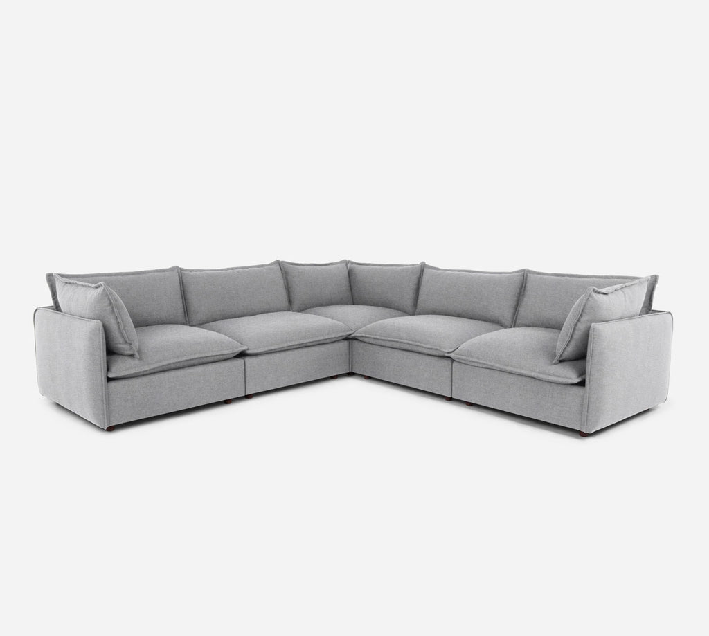 Lova Corner Sectional - Coastal - Ash