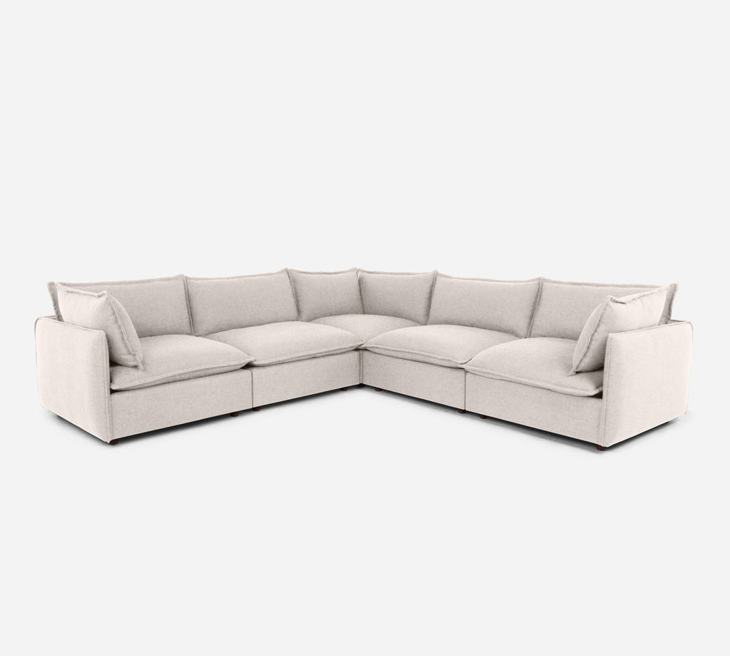 Lova Corner Sectional - Coastal - Sand