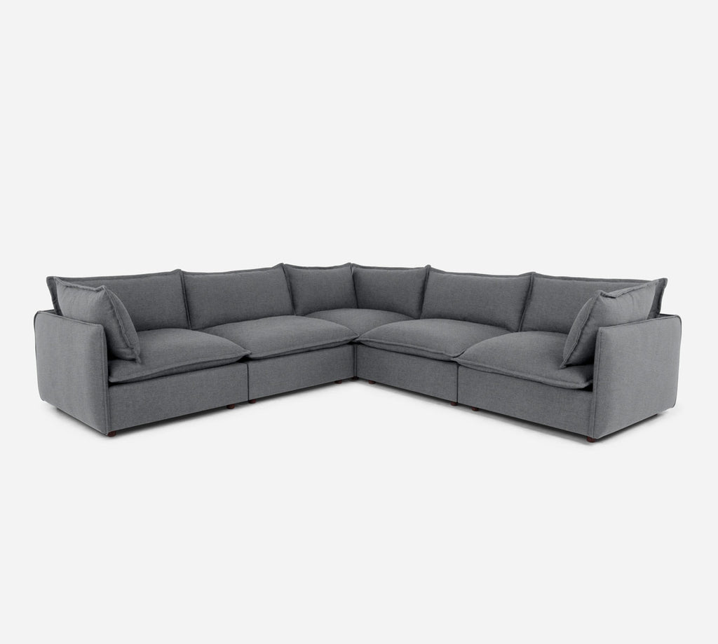 Lova Corner Sectional - Coastal - Steel