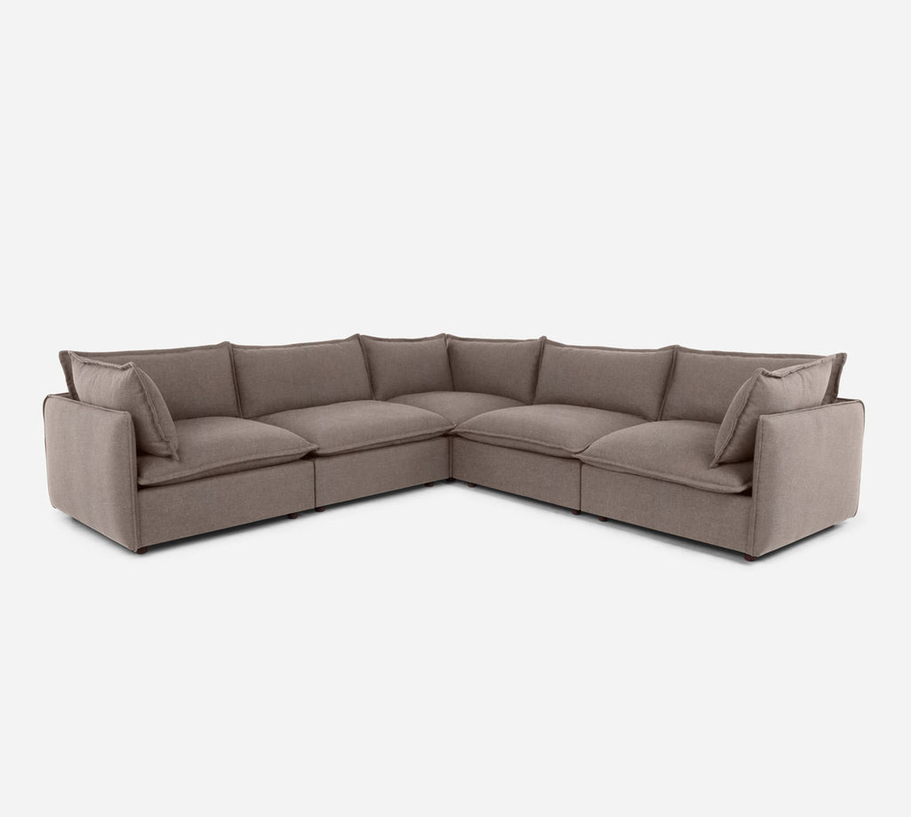 Lova Corner Sectional - Heritage - Pebble