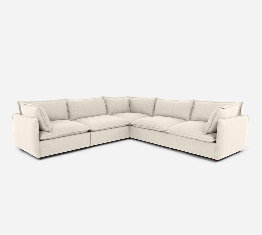 Lova Corner Sectional - Kenley - Canvas