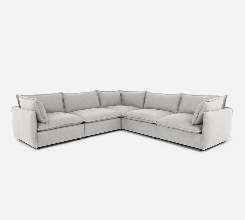 Lova Corner Sectional - Kenley - Moondust