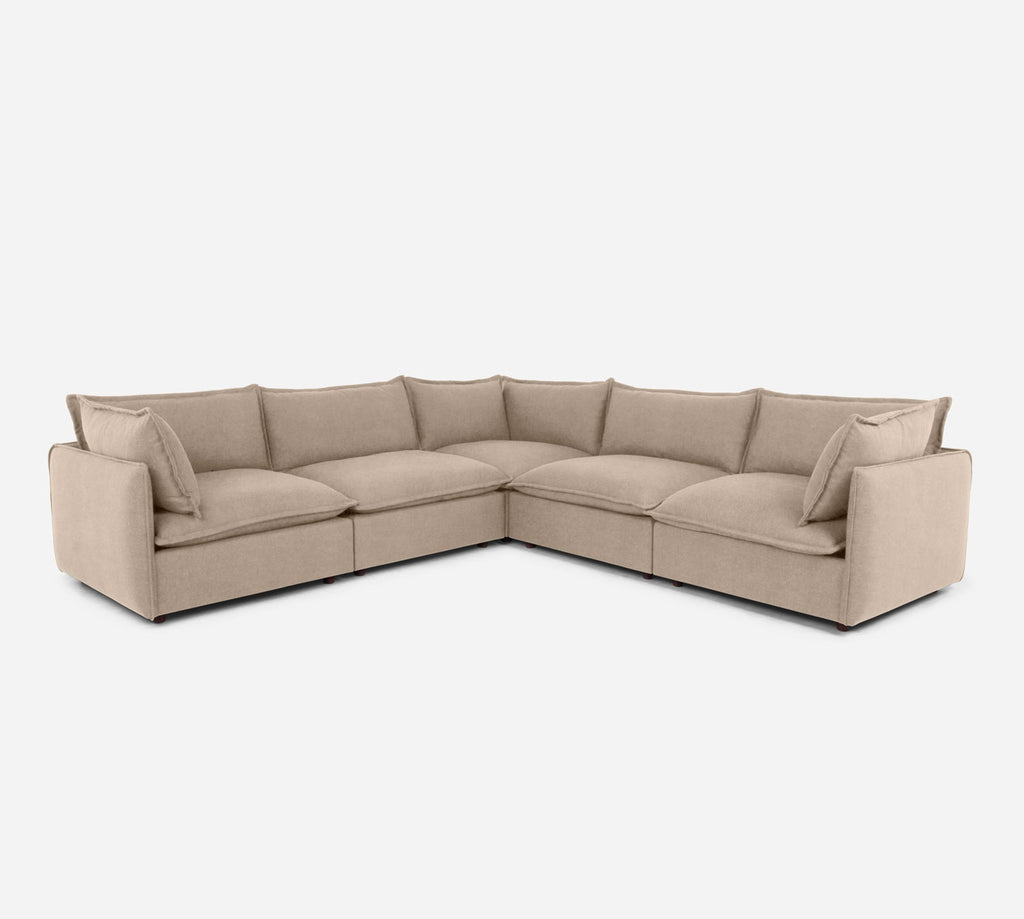 Lova Corner Sectional - Passion Suede - Camel