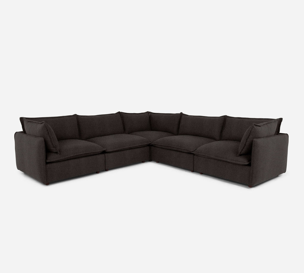 Lova Corner Sectional - Theron - Coffee