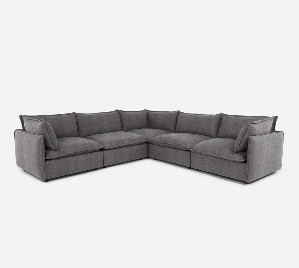 Lova Corner Sectional - Theron - Concrete
