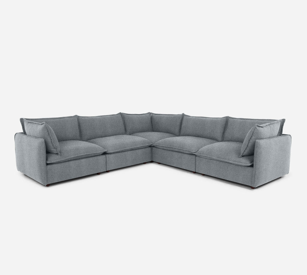 Lova Corner Sectional - Theron - Haze