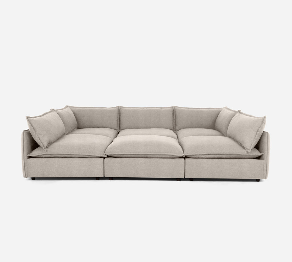 Lova Conversation Pit - Passion Suede - Oyster