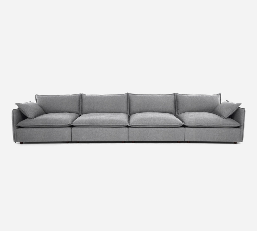 Lova 4 Seater Sectional - Coastal - Ash