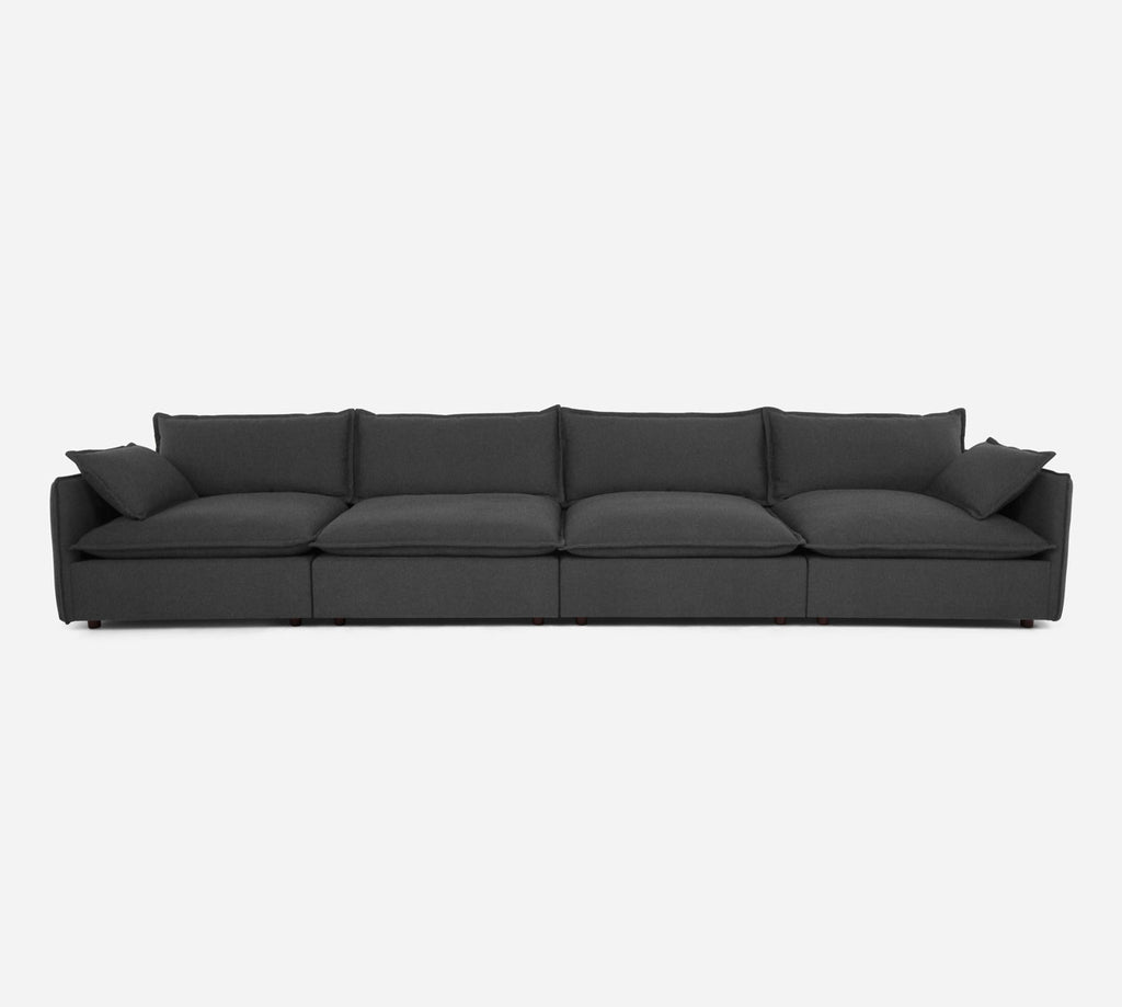 Lova 4 Seater Sectional - Dawson - Gunmetal