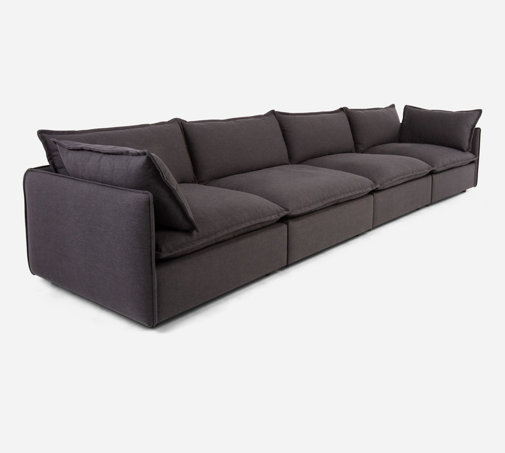 Lova 4 Seater Sectional - Heritage - Charcoal