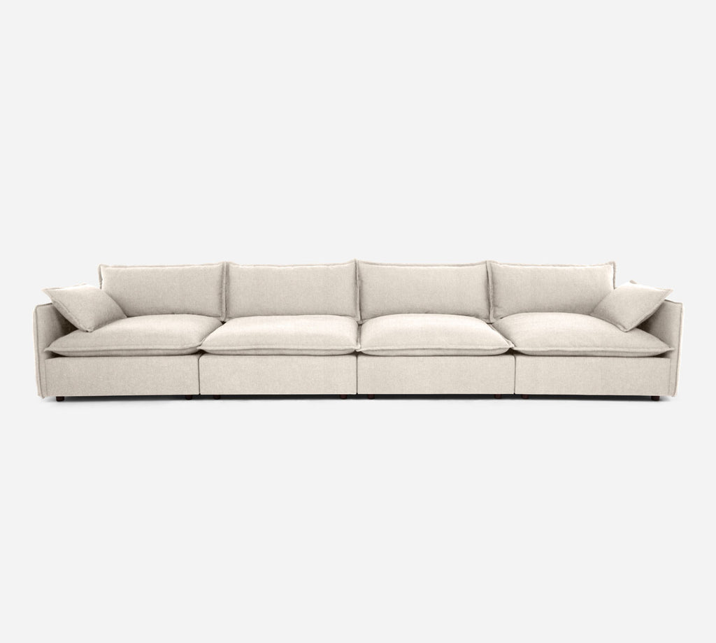 Lova 4 Seater Sectional - Kenley - Canvas