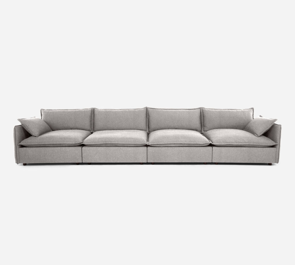 Lova 4 Seater Sectional - Kenley - Moondust