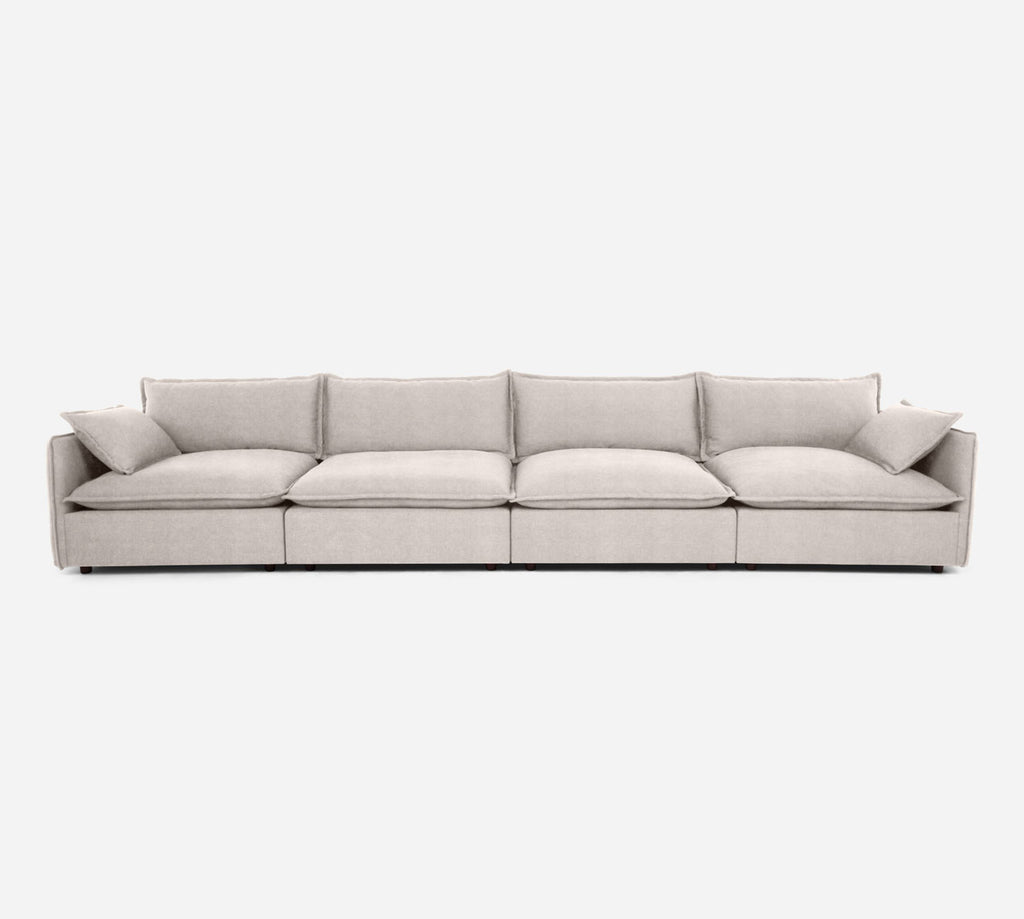 Lova 4 Seater Sectional - Passion Suede - Oyster
