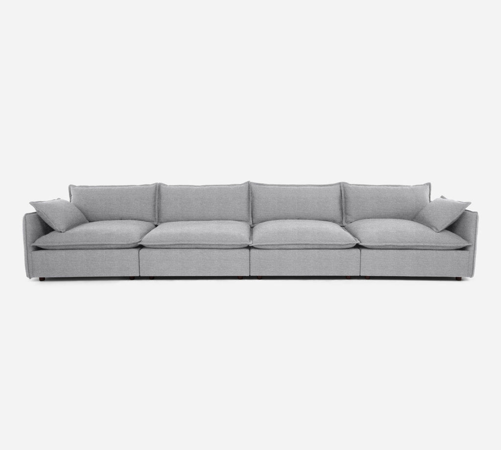 Lova 4 Seater Sectional - Stardust - Domino