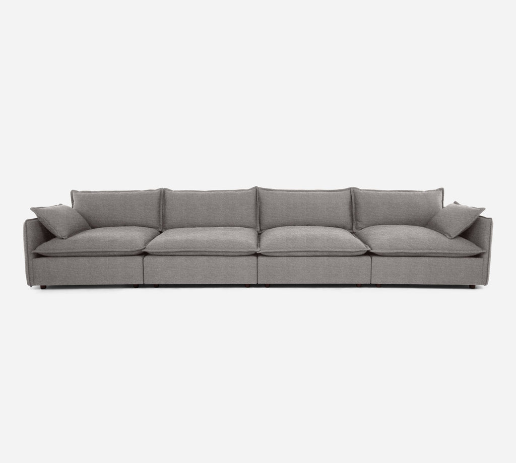 Lova 4 Seater Sectional - Stardust - Fossil