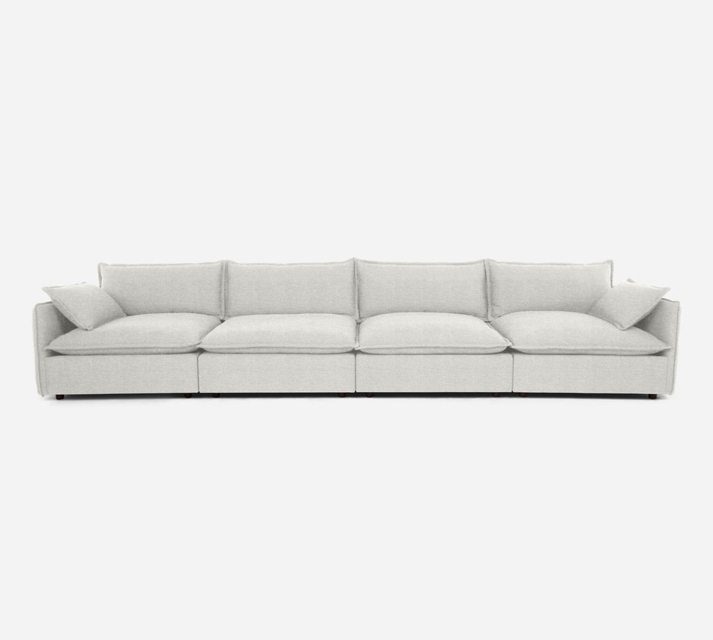 Lova 4 Seater Sectional - Stardust - Ivory