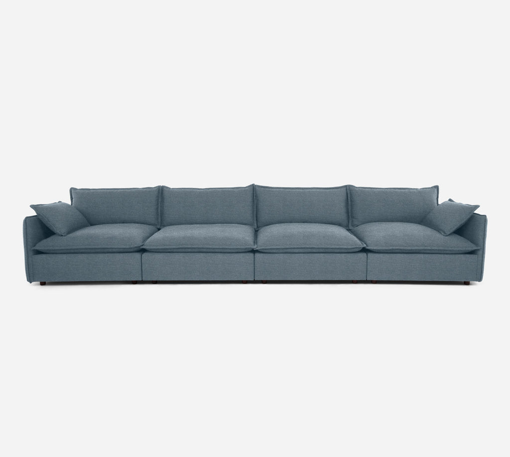 Lova 4 Seater Sectional - Stardust - Lapis