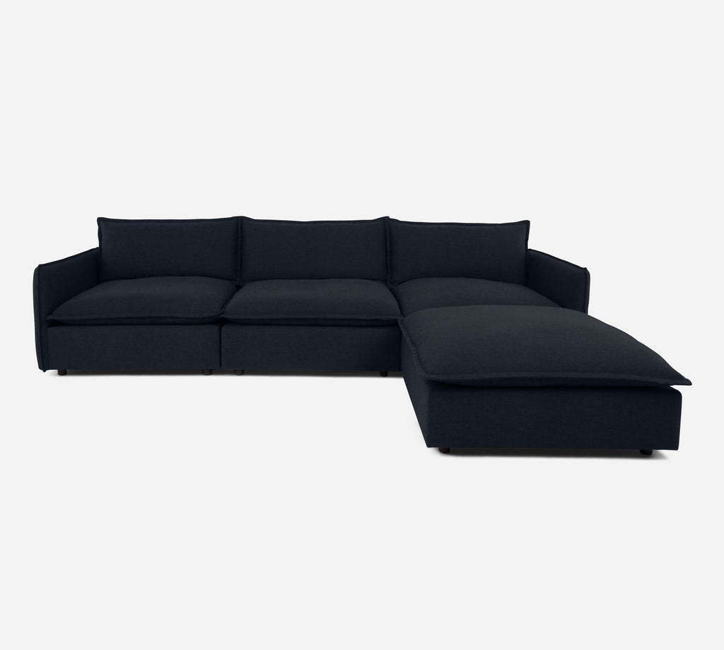 Lova 3 Seater Sectional w/ Ottoman - Coastal - Sailor