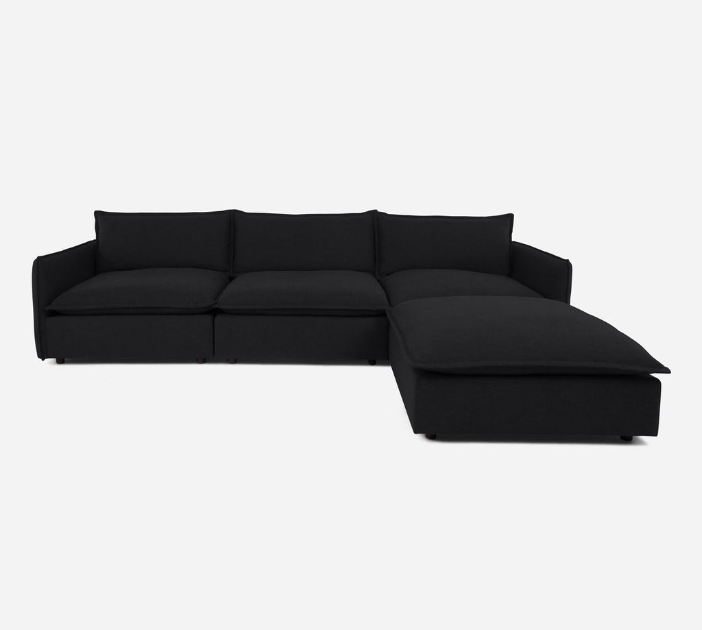 Lova 3 Seater Sectional w/ Ottoman - Kenley - Chimney