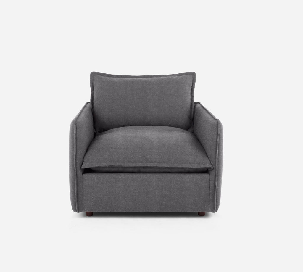 Lova Swivel Chair - Passion Suede - Charcoal