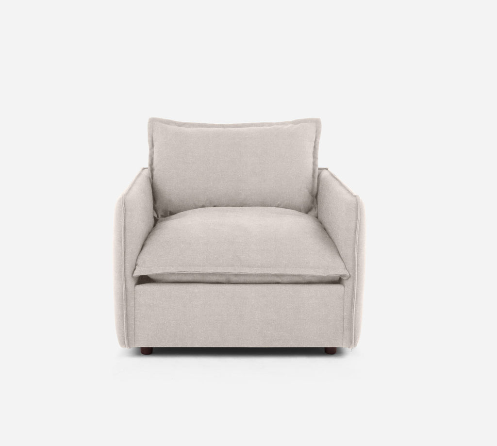 Lova Swivel Chair - Passion Suede - Oyster