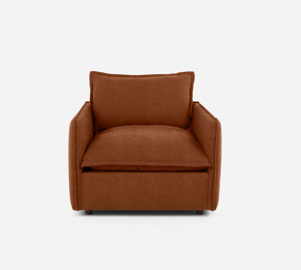 Lova Swivel Chair - Passion Suede - Rust