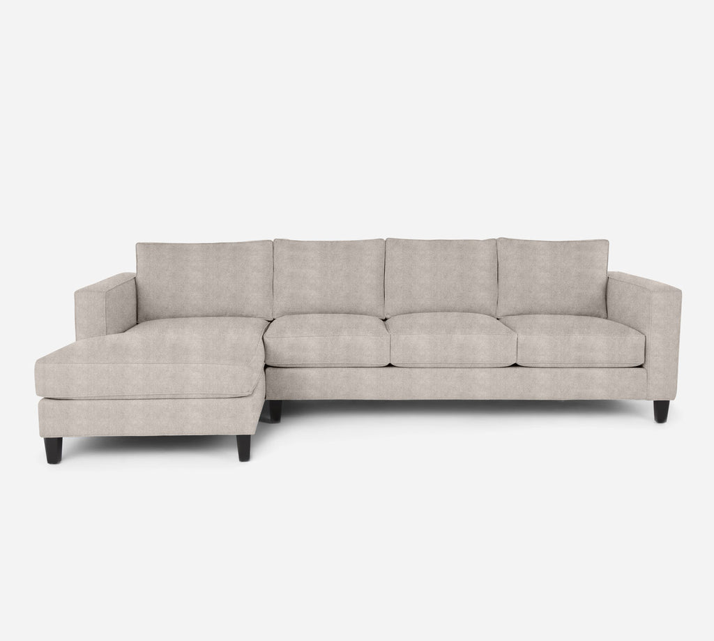 Remy LAF Chaise Sectional - Passion Suede - Oyster