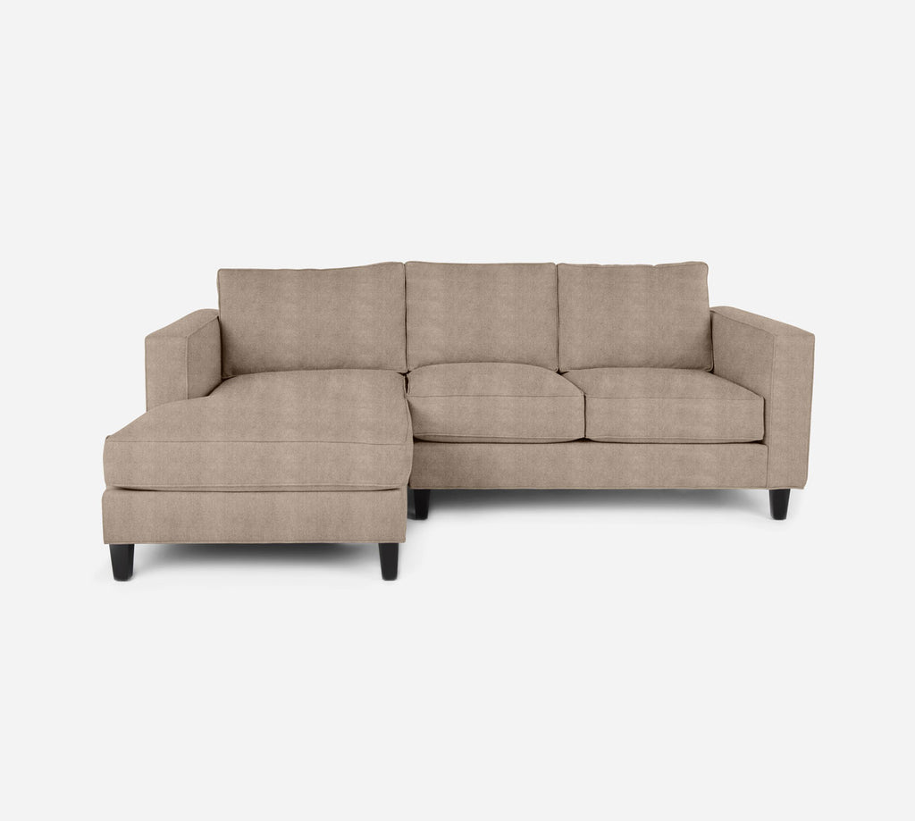Remy Sectional Apartment Sofa w/ LAF Chaise - Passion Suede - Camel