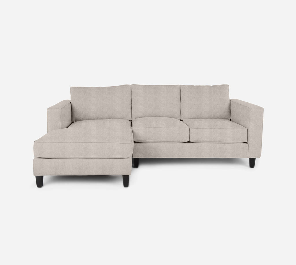 Remy Sectional Apartment Sofa w/ LAF Chaise - Passion Suede - Oyster