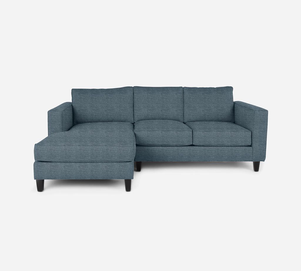 Remy Sectional Apartment Sofa w/ LAF Chaise - Stardust - Lapis
