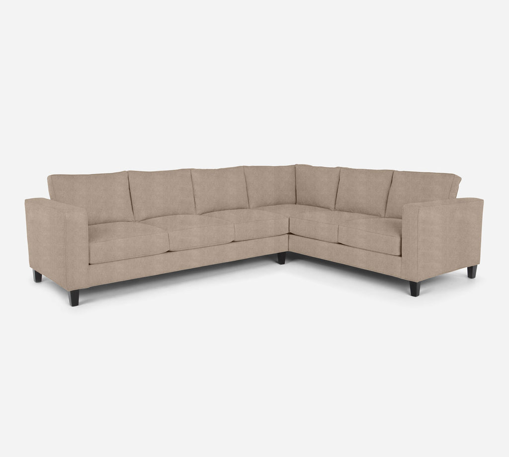 Remy LAF Large Corner Sectional - Passion Suede - Camel