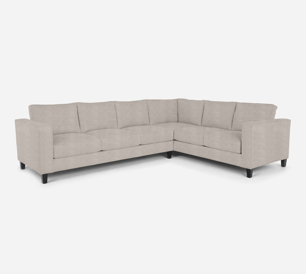 Remy LAF Large Corner Sectional - Passion Suede - Oyster