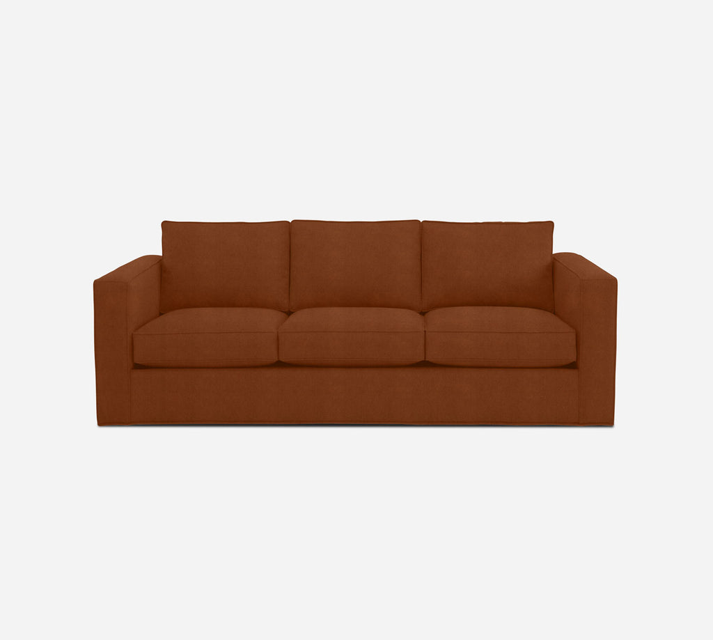 Remy 3 Seat Sleeper Sofa - Passion Suede - Rust