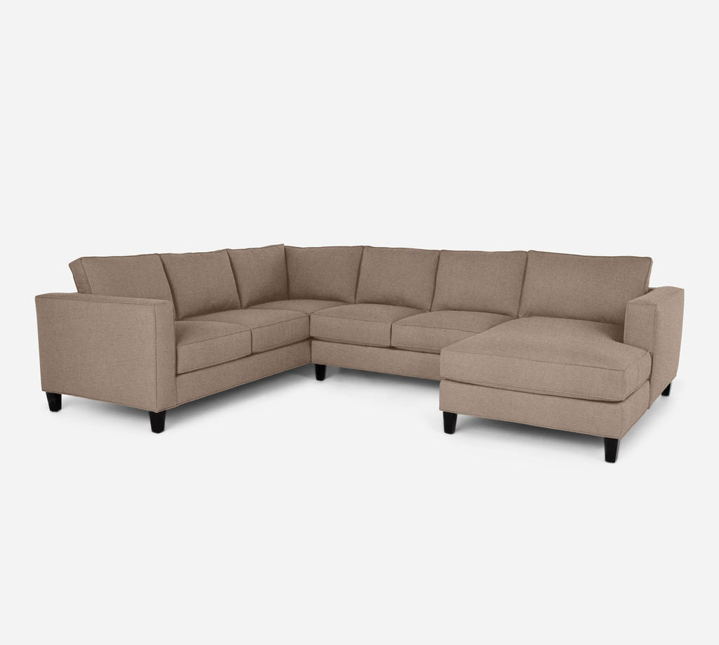 Remy RAF Chaise Corner Sectional - Coastal - Cashew
