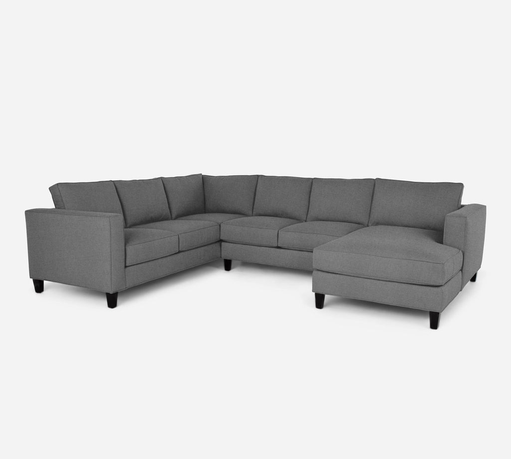 Remy RAF Chaise Corner Sectional - Coastal - Steel