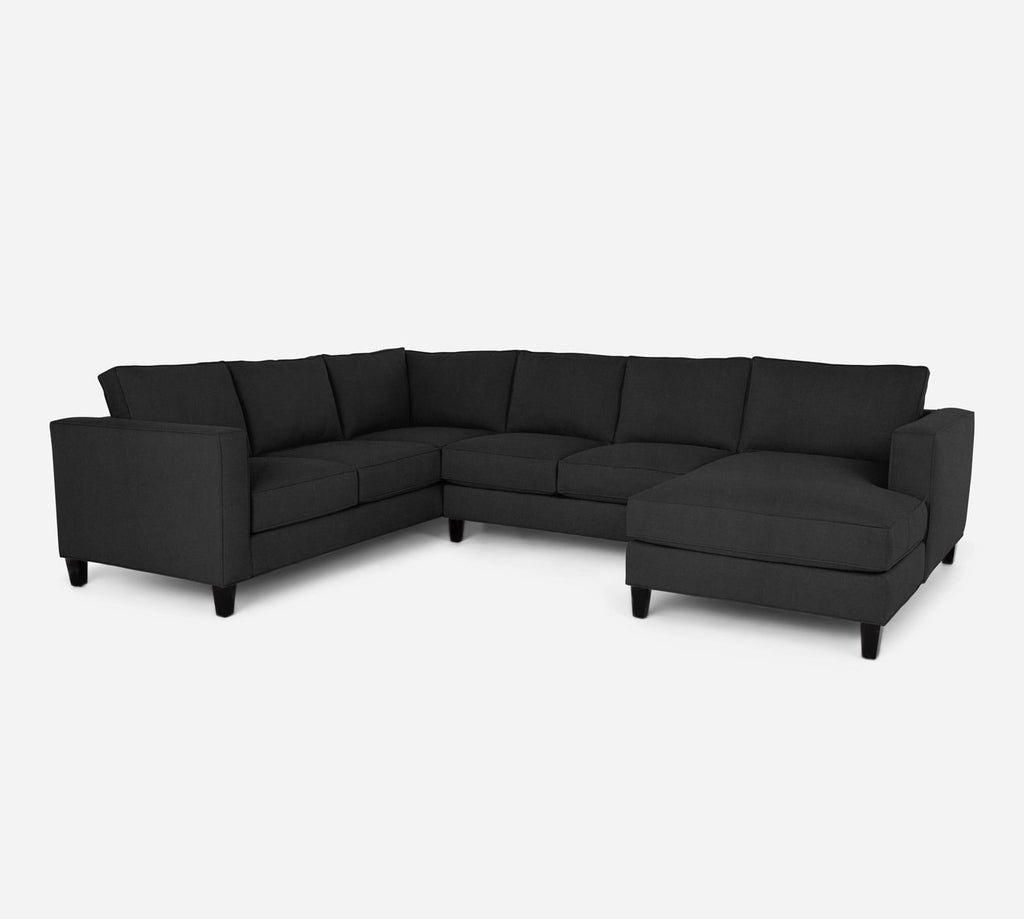 Remy RAF Chaise Corner Sectional - Heritage - Charcoal