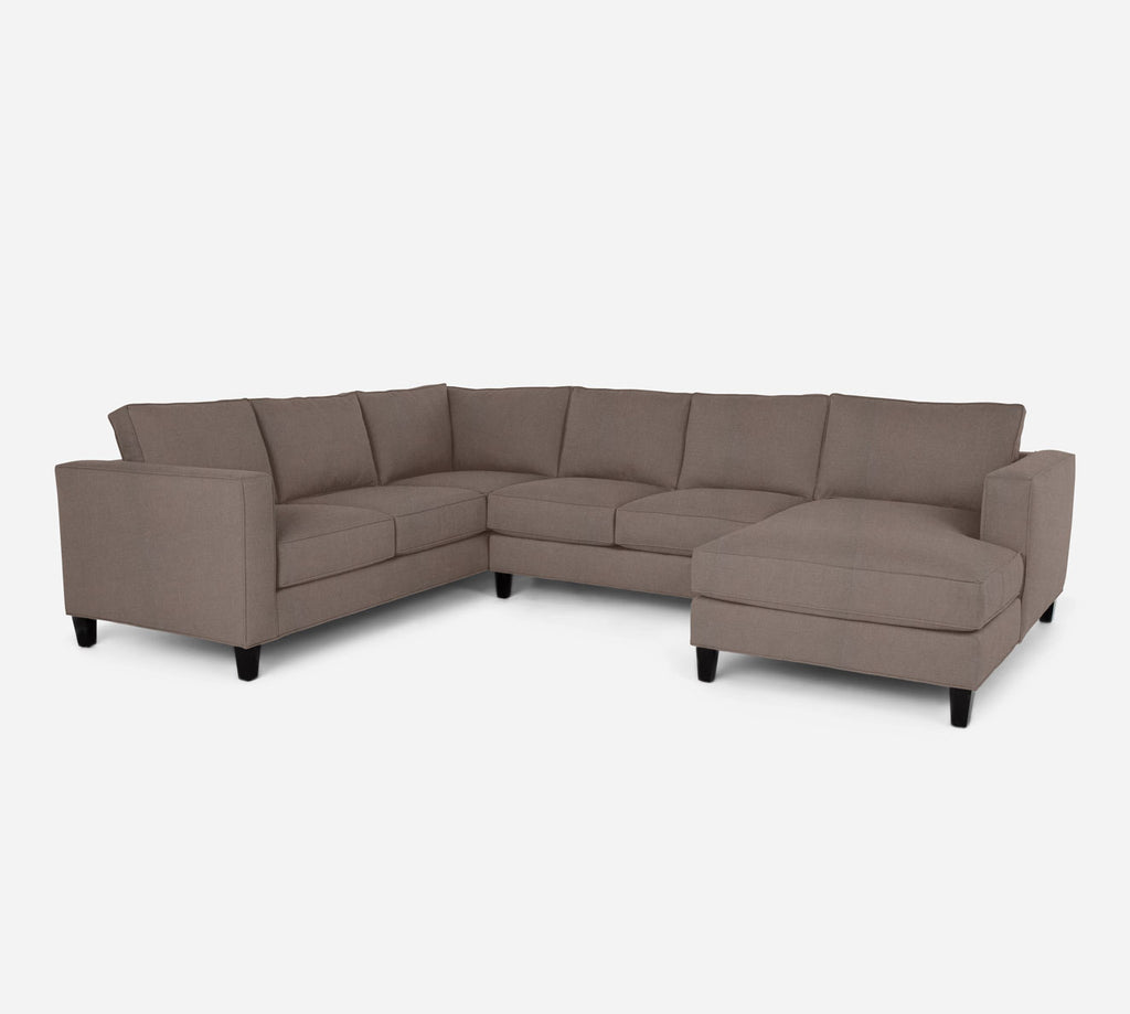 Remy RAF Chaise Corner Sectional - Heritage - Pebble