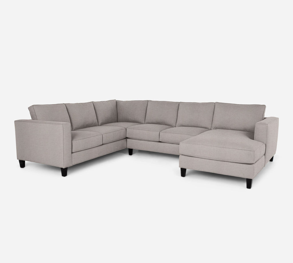Remy RAF Chaise Corner Sectional - Key Largo - Almond