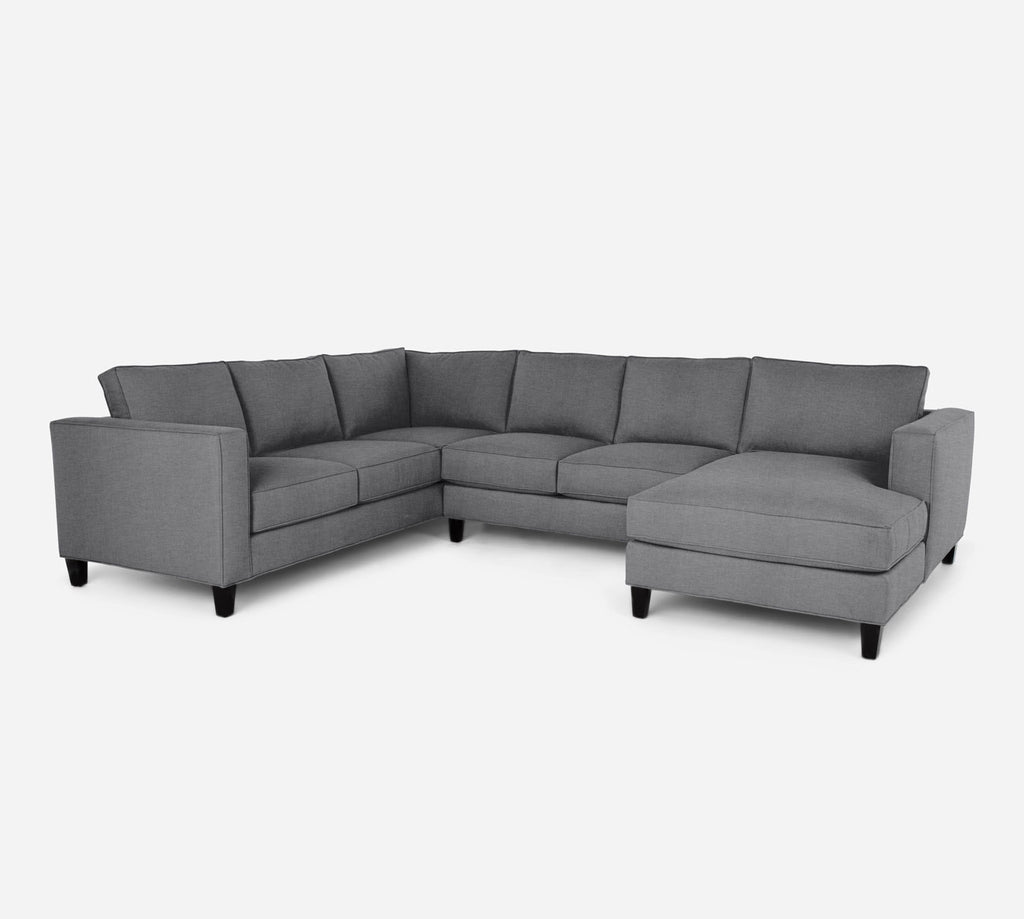 Remy RAF Chaise Corner Sectional - Key Largo - Ash