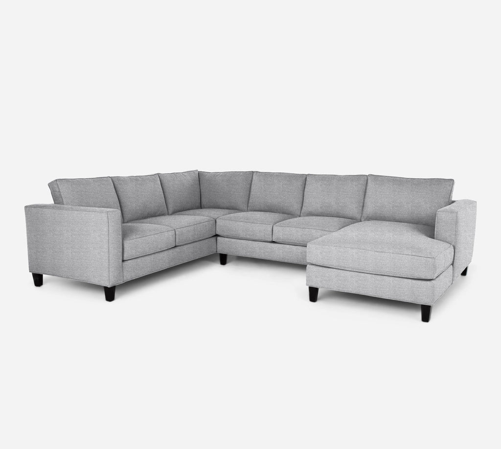 Remy RAF Chaise Corner Sectional - Stardust - Domino