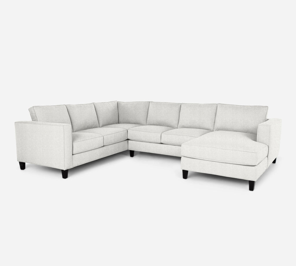 Remy RAF Chaise Corner Sectional - Stardust - Ivory