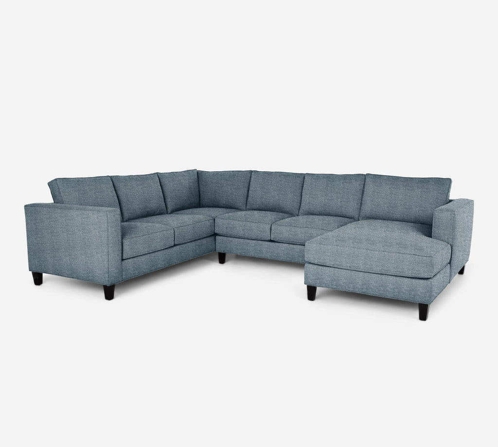 Remy RAF Chaise Corner Sectional - Stardust - Lapis
